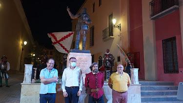Inauguración de la estatua.