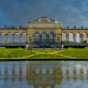 Shonbrunn Palace by Luis Silva - Buildings & Architecture Statues & Monuments ( vienna, reflection, shonbrunn, monument )