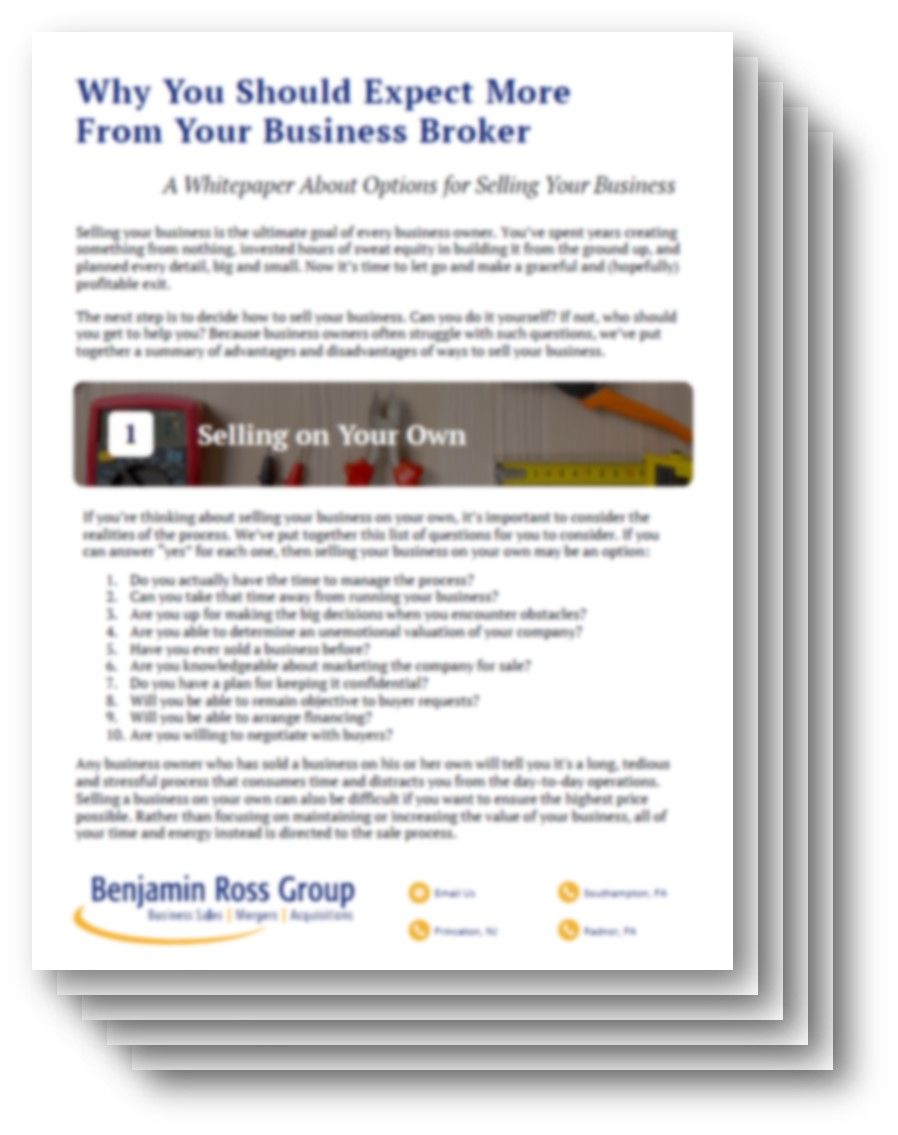 expect more from your business broker