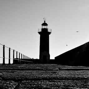 Farol by Janete Ribeiro - Black & White Buildings & Architecture