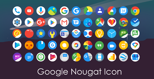 Pixel Nougat - Icon Pack app for Android screenshot