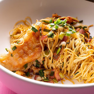 Bacon-Fried Dumpling Noodles Recipe