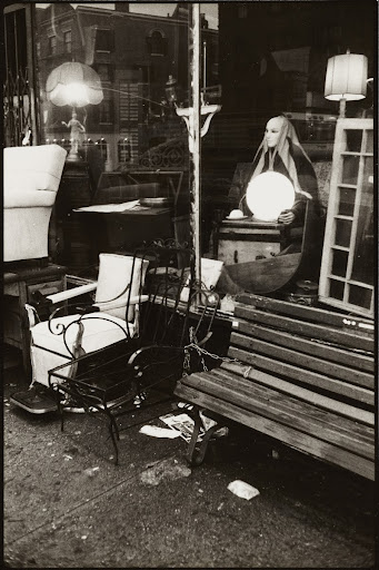 Store Front and Mannequin, West Village, 1977