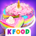 Unicorn Cheesecake Maker - Cooking Games for Girls icon