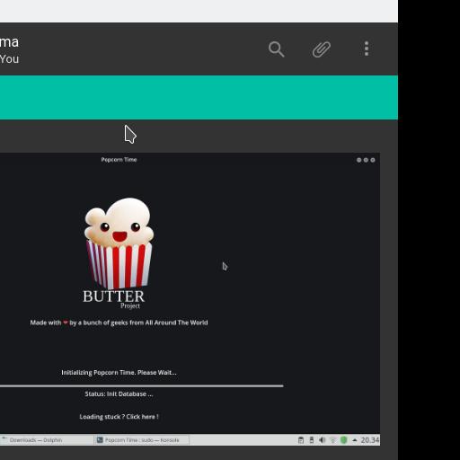 Theme Numix Dark : kita bisa mengirimkan file attachment pada teman kita.