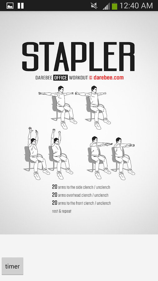 100 Office Workouts: captura de pantalla