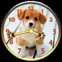 Sweet Puppy Analog Clock icon