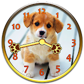 Sweet Puppy Analog Clock
