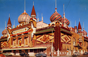 Photo: Postcard from Mitchell's Corn Palace- looks like it is around the 1950's/1960's. This is a slightly different image than the one I used but the time was similar.