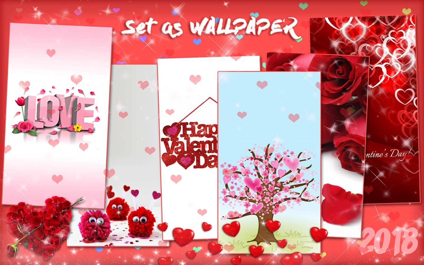 Valentines Day Live Wallpaper 💖 Love Background - Android ...