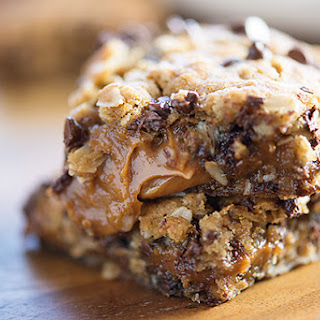 Peanut Butter Caramel Oatmeal Cookie Bars