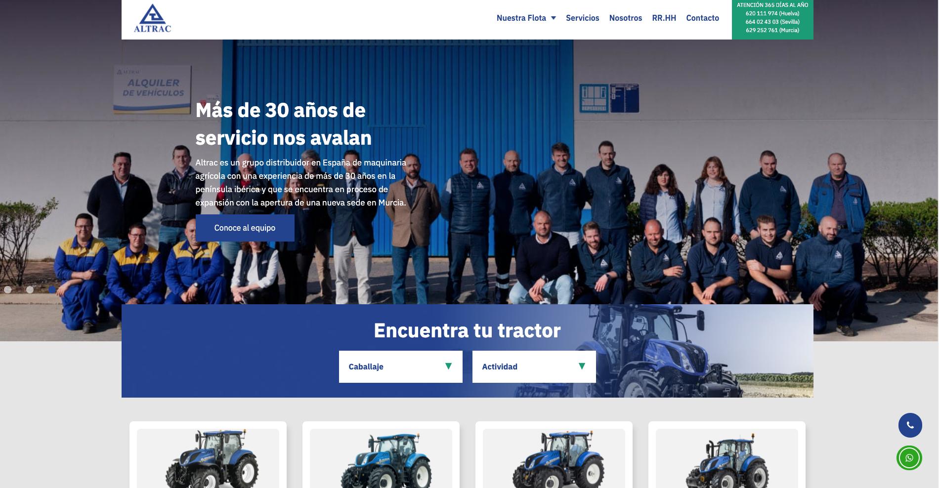 Lanzamiento de la nueva web de Altrac