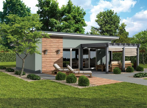 Projekty domów z dachem jednospadowym  Tooba pl -> Letnia Kuchnia Zdjecia