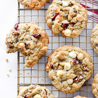 Cranberry White Chocolate Chip and Macadamia Nut Cookies.