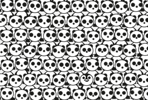 only people with iq 140 or higher can find hidden panda in these 5