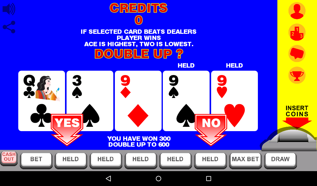 double up video poker machines