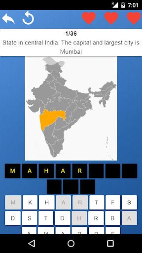 States Of India Maps Capitals Tests Quiz 1 0 15 Download Apk Mod Unlimited Money Free Online Download Apkhen Com