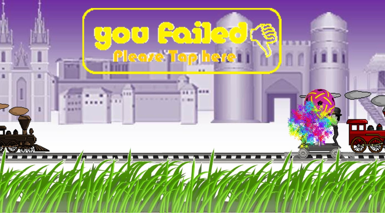 Naufal Train Game - HARD Level- screenshot