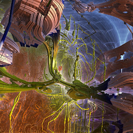 Well Controlled Fria by Rick Eskridge - Illustration Abstract & Patterns ( abstract, jwildfire, mb3d, fractal, twisted brush )