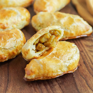 Curried Vegetable Turnovers.