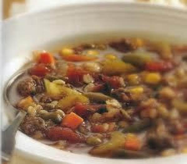 Chocked Full Of Vegetables Beef  Barley Soup Recipe