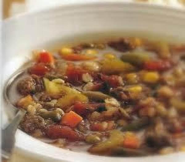Chocked Full Of Vegetables Beef  Barley Soup