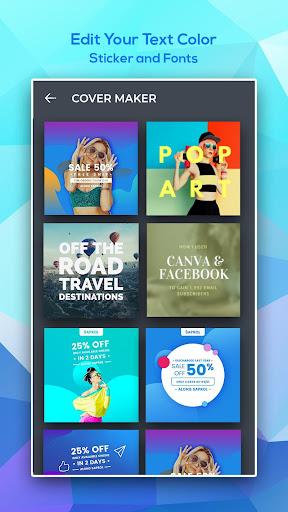 Cover Photo Maker - Banners & Thumbnails Designer 1.0.2 screenshots 1
