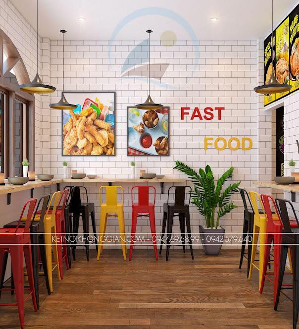 thiết kế cửa hàng gà rán đài loan 7
