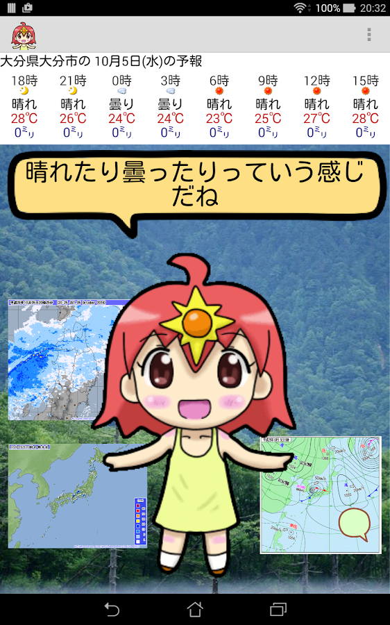Akari's weather forecast- screenshot