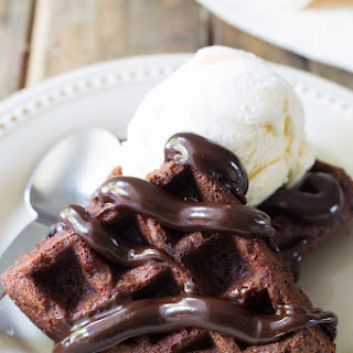 Brownie Belgium Waffles A La Mode