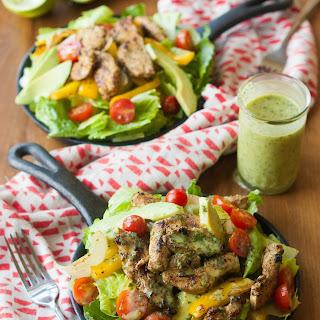 Cilantro Lime Fajita Salad with Honey Lime Vinaigrette