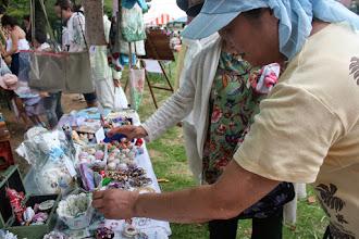 Photo: 手づくり雑貨、小物のグリーングラスさん とても繊細な作品に人気が集まります。