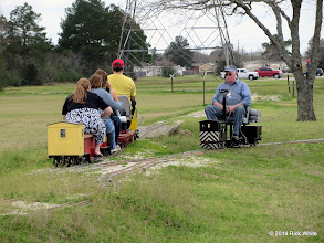 Photo: Craig Thomasson going away while JT Bailey heads this way at Black's Crossing    HALS Chili Fest Meet 2014-0301 RPW