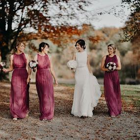 Bride & Bridesmaids :)  by Kaspars Sarovarcenko - Wedding Groups ( wedding photographer limerick )