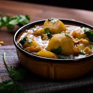 Potato and Yellow Split Pea Curry.