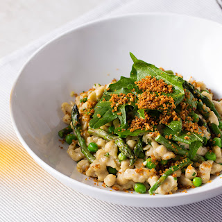 Rye Spaetzle with Asparagus and Gruyère.