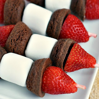 Brownie Fruit Kabobs.