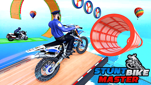 Police Bike Stunt Racing: Mega Ramp Stunts Games modavailable screenshots 4