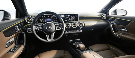 The interior will be a huge change with wide digital screens, no instrument cluster cowl and kit from higher models.   Picture: DAIMLER