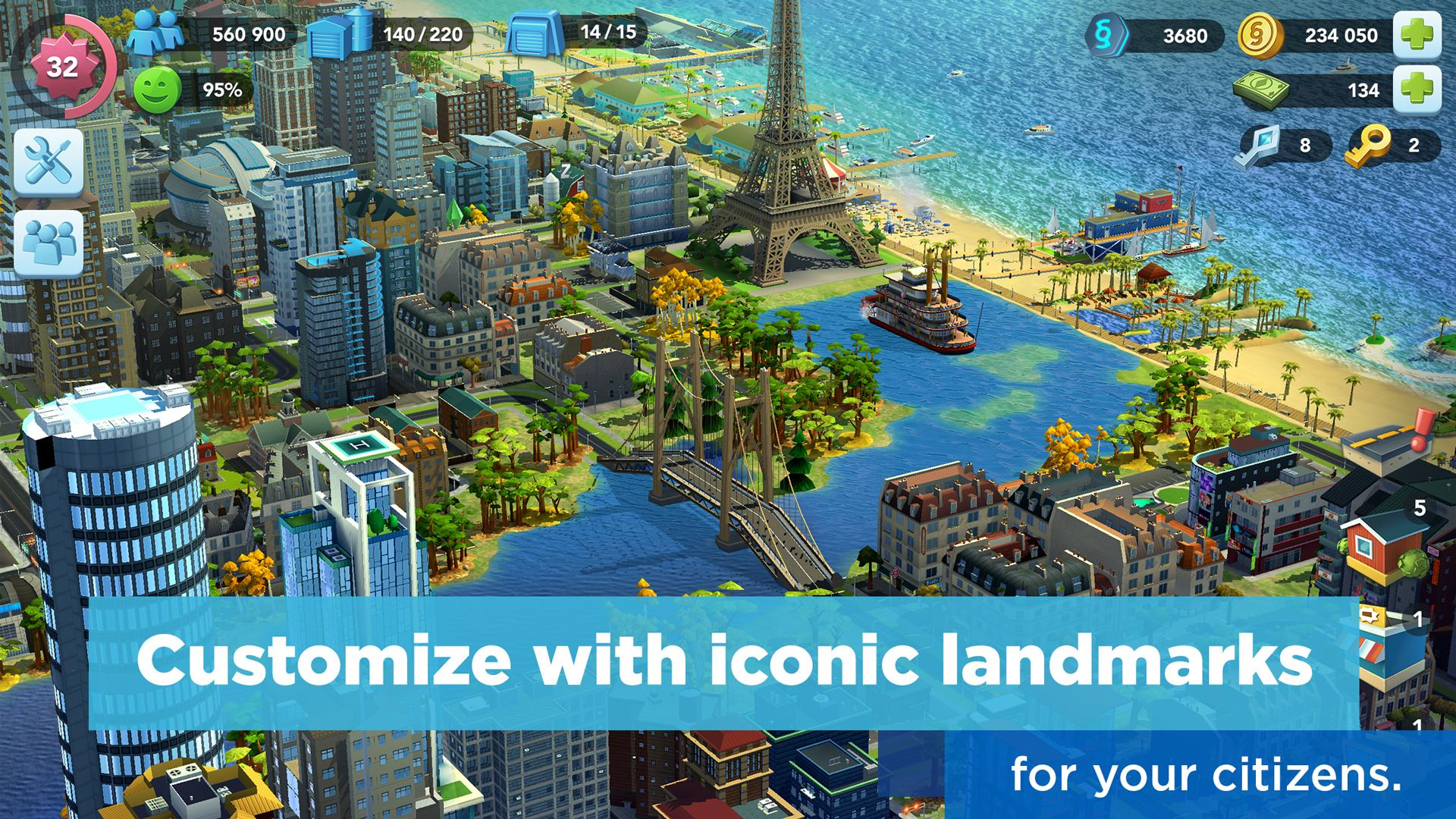 Simcity Buildit Mod Apk (Unlimited Money/Coins/Keys) Latest Version 2
