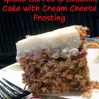 Spiced Carrot and Zucchini Cake with Cream Cheese Frosting