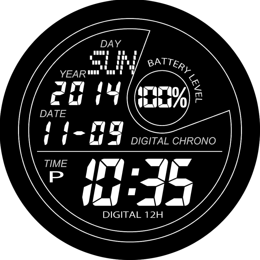 A40 WatchFace for Android Wear Smart Watch- screenshot