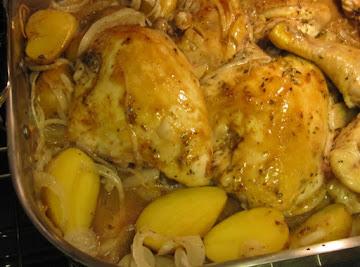 Herb Roasted Chicken & Potatoes Recipe