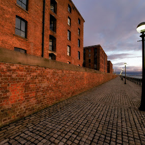 Sunset at Albert Dock by Alva Priyadipoera - City,  Street & Park  Vistas