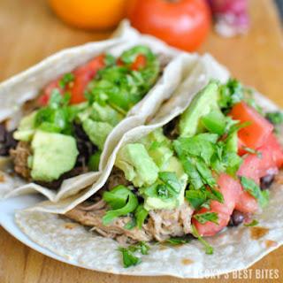 Easy Slow Cooker Pork Carnitas Tacos.
