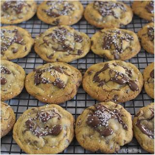 Salty Sweet Nutella Chocolate Chip Cookies.