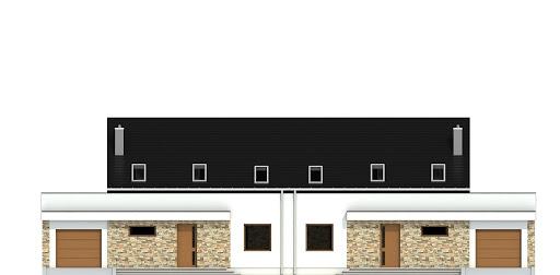 Sosnówka z garażem 1-st. bliźniak A-BL2 - Elewacja przednia
