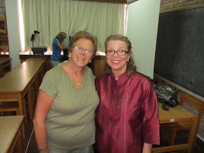 Photo: With Ana, at presentation at Instituto de Perveccionamiento y Estudios, Feb 21