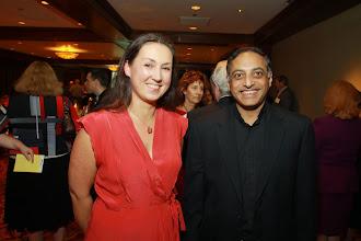 Photo: Katherina Glac, University of St. Thomas-Minnesota and Nicholas Santos, S.J., Marquette University