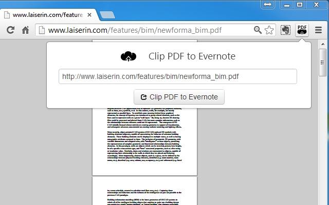 Clip PDF to Evernote
